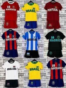 Kids Football Shirt Shorts Set LA FRANCE Soccer Summer Sports Kit 3-13 Years