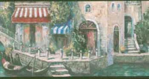 Green Venice Canal Wallpaper Border DB3690B