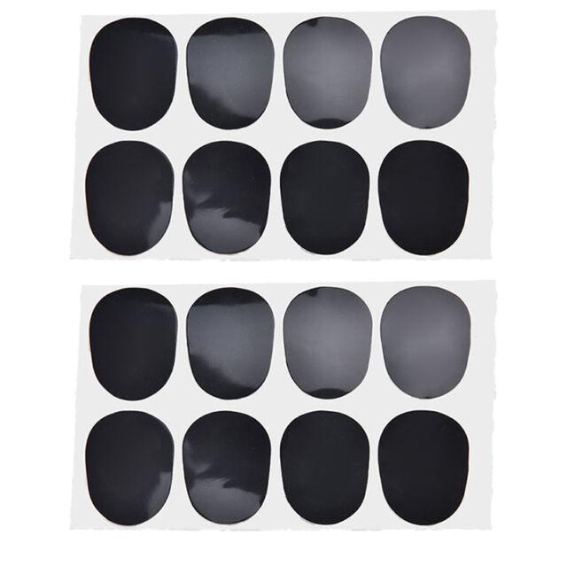 16pcs Alto/tenor Sax Clarinet Mouthpiece Patches Pads Cushions, 0.8mm Black LP