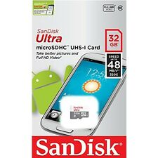 SanDisk 32GB Ultra Micro SD Memory Card 48MB/s Class10