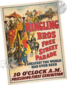 Strobridge 1910 Ringling Bros Free Street Parade > Circus Procession > Art Print