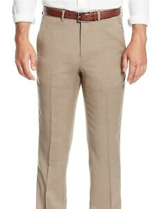 in tinta Classic unita Fit Alfani Pantaloni lana 100 eleganti xvIq4wS
