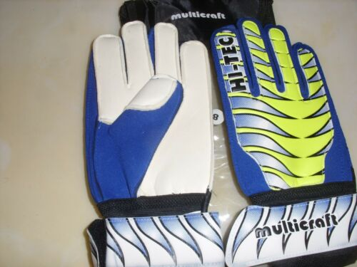 Gardien de but Gants Football Multicraft Hi Tech (bleu/jaune) Tailles 6,7, 8, 9, 10