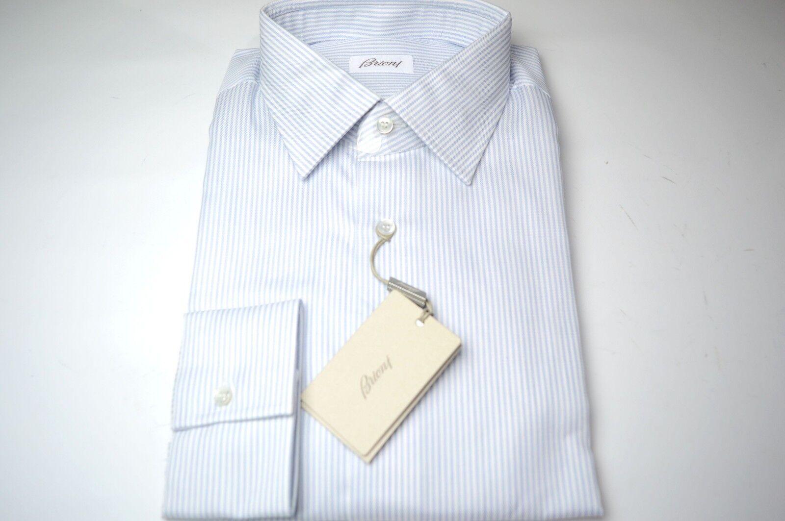 NEW  BRIONI Dress  SHIRT 100% Cotton Größe 16.5 Us 42 Eu  (ARA105)