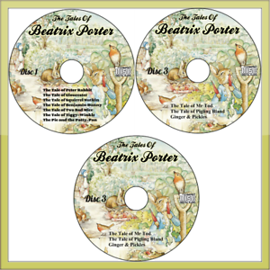 Collection-of-19-Beatrix-Potter-Peter-Rabbit-Audio-Books-stories-on-3-Audio-CD