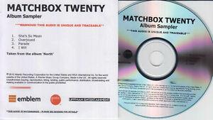 MATCHBOX-TWENTY-Album-Sampler-North-UK-4-trk-numbered-watermarked-promo-test-CD
