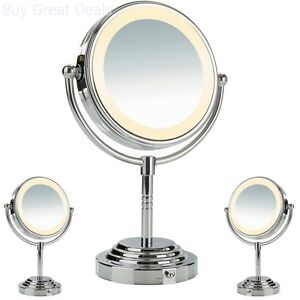 New Double Sided Battery Operated Lighted Makeup Mirror