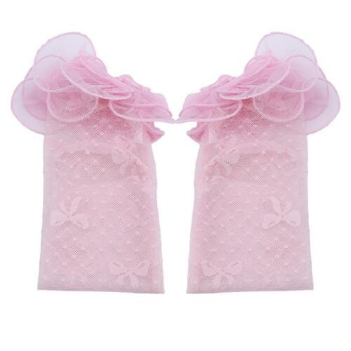 1 Pair Fashion Girls Princess Socks Frilly Trimmed Lace Sock Supplies FI