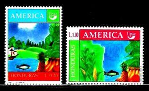 SELLOS-HONDURAS-1990-TEMA-AMERICA-UPAEP-277-8-2v