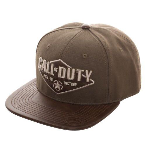 Push for Victory vert//kaki Casquette Réglable NEUF Officiel Call of Duty: la seconde guerre mondiale 2