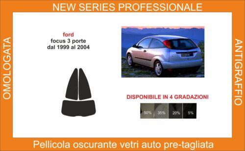 pellicola oscurante vetri ford focus 3 p dal 1999 al 2004