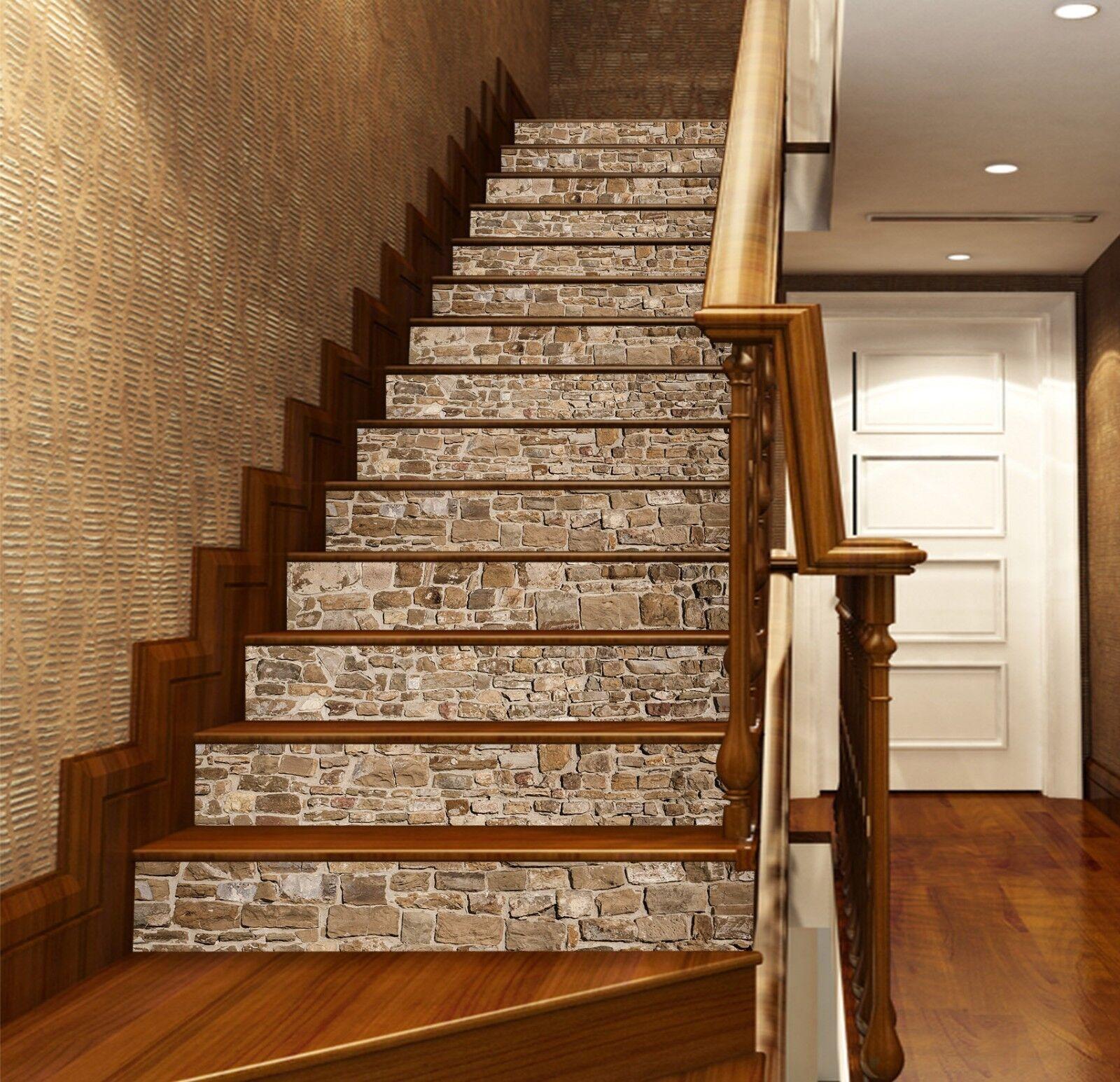3D Traditionelle 7 Fliese Marmor Stair Risers Fototapete Vinyl Aufkleber Tapete