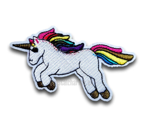 Rainbow Unicorn Iron Sew On Embroidered Applique Patch *Buy 2 get 10/% off* UK
