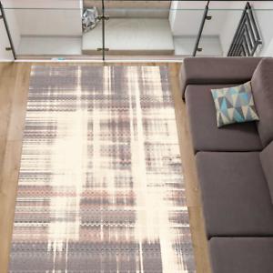 Teppich 100 Schurwolle Modern Stylisch Wohnzimmer Creme Graphit 5