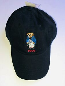 Polo-Ralph-Lauren-Winter-ski-Bear-Limited-edition-Men-039-s-Chino-Hat-Cap-Black-NEW