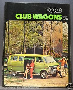 73 FORD CLUB WAGON SALES CATALOG 1973 FORD ECONOLINE VAN BROCHURE 2 for 1