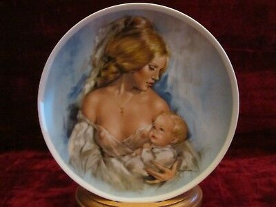 Vintage Royal Bayreuth Mothers Day 1975 Young Americans Collector Plate