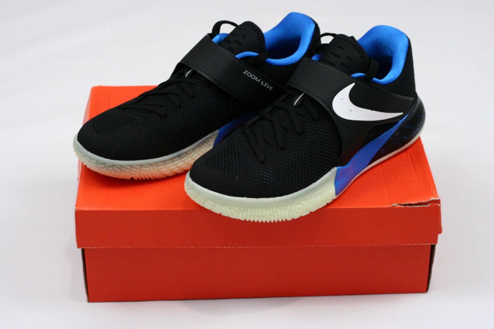 Nike Zoom Live Live Live PE ZACH LAVINE Men's shoes Size 8.5 Black bluee White 910573-014 cbf845