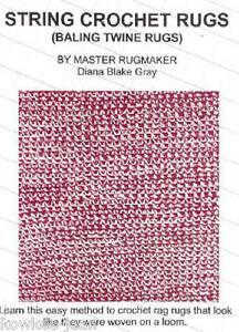 String Crochet Rag Rugs Baling Twine Rugs Ebay