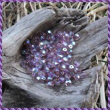 150 Perles de bohème facette 5 mm Tchèque coloris Light Améthyste AB