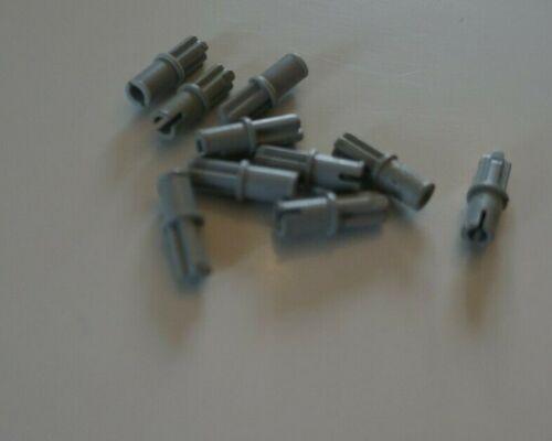 10x lego 3749 gray Technic Axle Pin without Friction Ridges Lengthwise