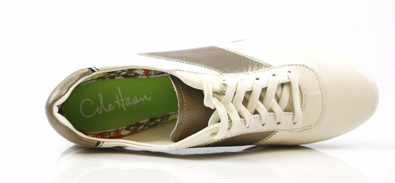 Cole Haan Nike Air Addison Lace Ivory White Fashion Sneakers Size 8.5 B NEW