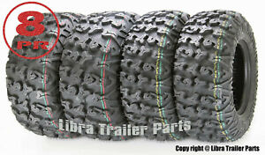 Full-Set-Free-Country-ATV-UTV-Tires-25x8-12-amp-25x10-12-8PR-w-Side-Scuff-Guard