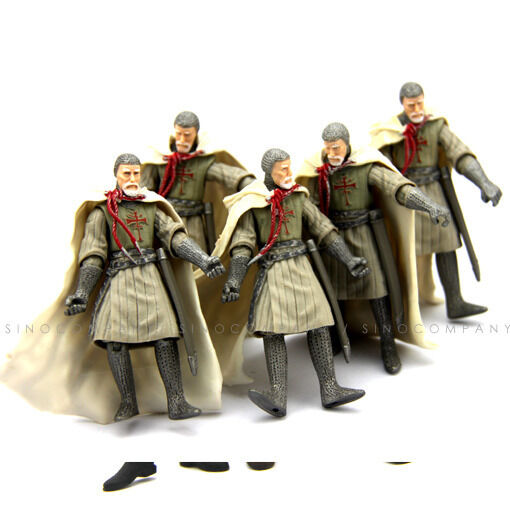 5pcs Toy Gift Indiana Jones Last Crusade Grail Knight 3.75'' Action Figure M640