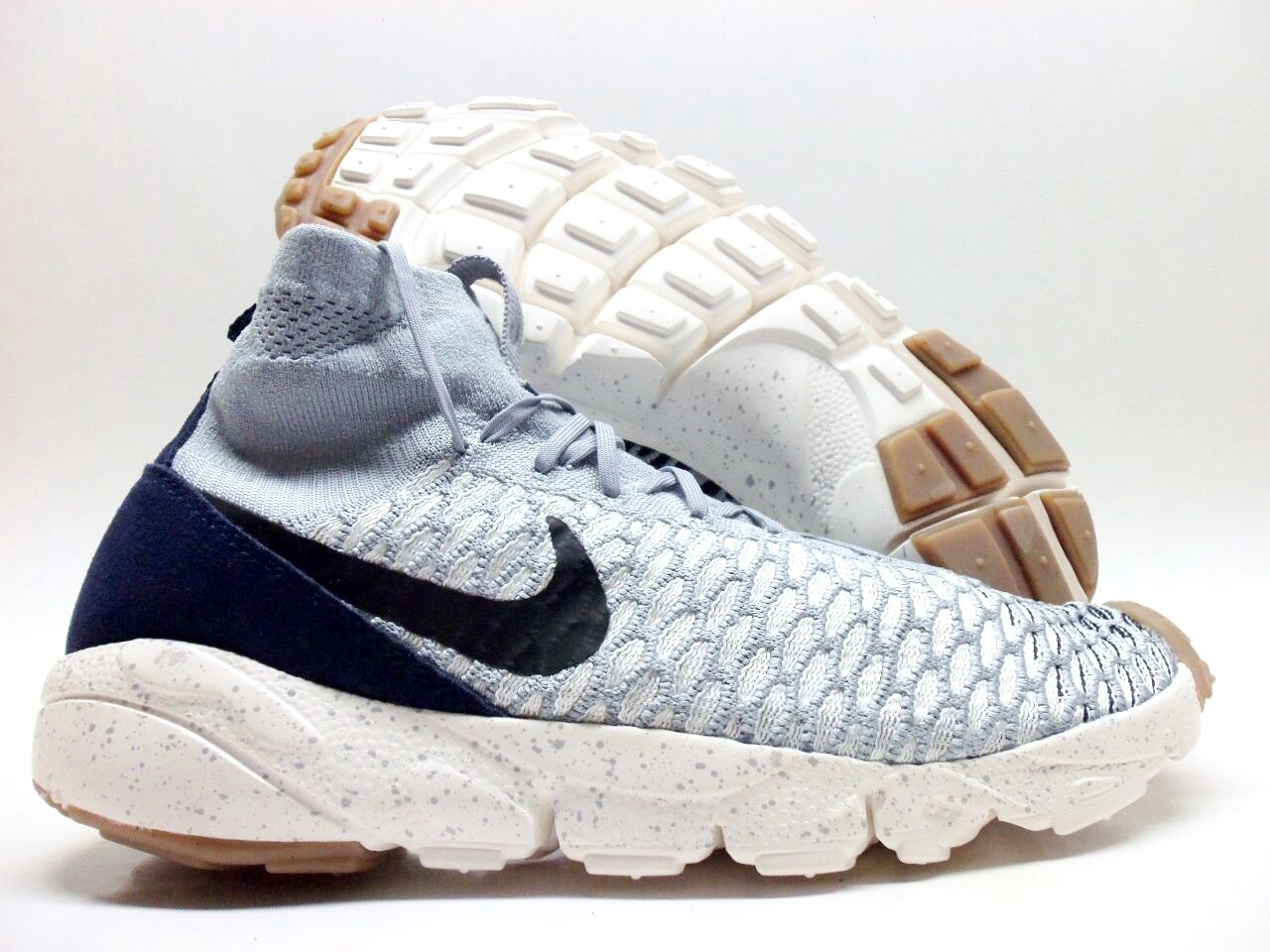 abdfb8abe146 high-quality NIKE AIR FOOTSCAPE MAGISTA FLYKNIT WOLF GREY B ACK SIZE MEN S