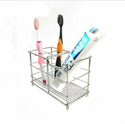1 PC Stainless Toothbrush Toothpaste Holder Razor Stand New Bathroom Organizer