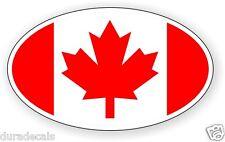 Canada Flag Oval Vinyl Decal | Sticker Bumper Window Euro Canadian