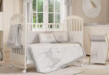 4 Piece Uni Grey Winnie The Pooh Baby Crib Bedding Cot Set