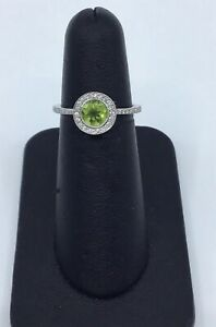 Gabriel-amp-Co-14K-White-Gold-Peridot-and-0-25-Ct-Diamond-Halo-Ring