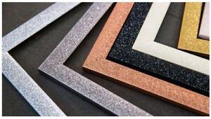 Stardust-Range-Glitter-Photo-frame-Picture-Poster-Frames-4-colours-Multi-Size