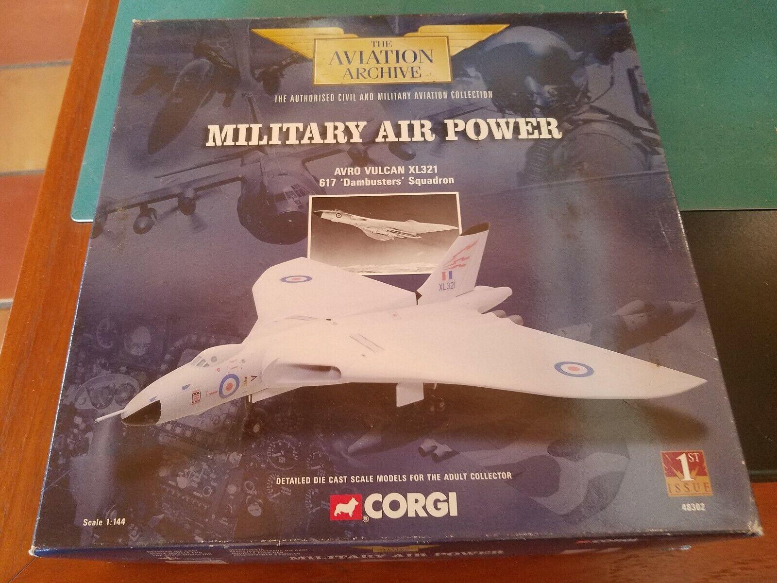 1 144 Corgi 48302 Avro Vulcan XL321 617 'Dambusters' escuadrón