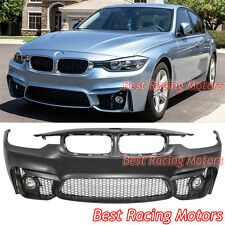 M3 (F80) Style Front Bumper + Fog Fit 12-17 BMW 3-Series F30 Sedan F31 Touring