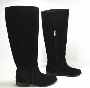 e2155441ddc Details about Womens Ugg Gracen Black Suede Riding Boots Size 6.5 Style  1017344 $250