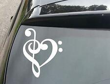 Musical Heart Car/Window JDM VW EURO DUB Vinyl Decal Sticker