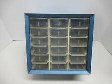 Vintage18 Drawer Metal Akro Mills Small Parts Storage Organizer Cabinet Bin