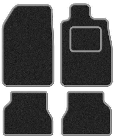 Mazda 2 07- Super Velour Black/Silver Trim Car mat set