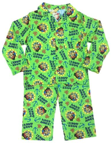 BOYS OFFICIAL DISNEY JAKE THE PIRATE BRUSHED COTTON PYJAMAS AGES 12-18 up to 3-4