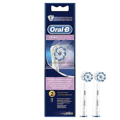 Oral-B EB60B2 sensi Clean ultrasottile RICAMBIO SPAZZOLINO DA DENTI TESTE Confezione da 2//NUOVO