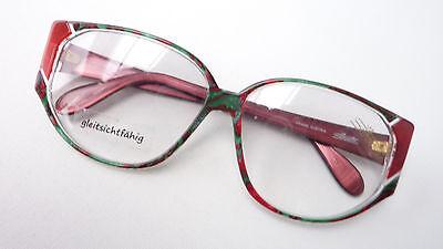 70 Riformarsi Versione Lusso Donna Grandi Occhiali Rosso Verde Silhouette Appariscente Size M-mostra Il Titolo Originale