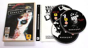 Gioco-PC-MANHUNT-2006-Rockstar-ITALIANO-USATO-MOLTO-RARO