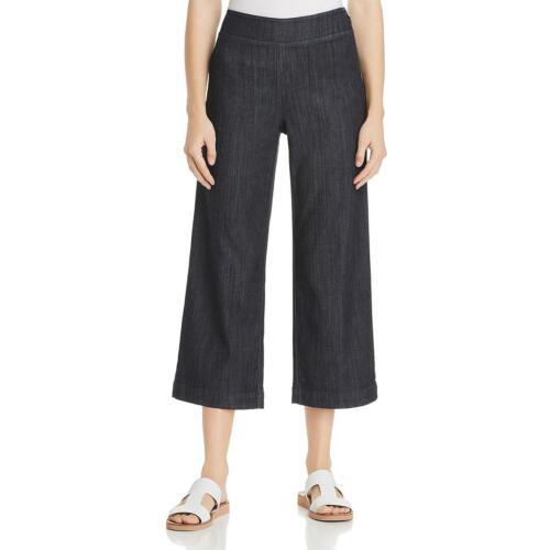 Zoe Womens Denim Knit Wide-Leg Cropped Pants BHFO 7231 Nic
