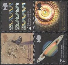 GB 1999 Millennium/Science/Planets/Astronomy/Bird/Nature/DNA/Medical 4v (n33565)