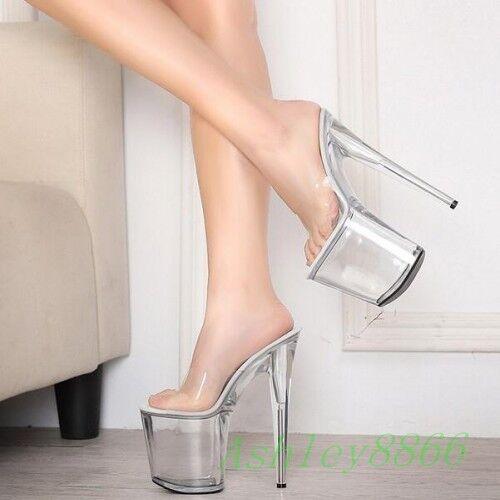 Fête Sexy Super High Stilettos Talon Dame Sandale Plateforme Pantoufle Chaussures Big SZ