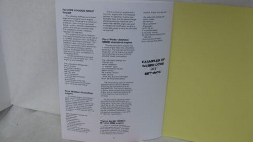 WEBER  DCOE REBUILD KIT  1.75 N//S ~ WEBER DCOE SERVICE MANUAL 40 45 48 DCOE