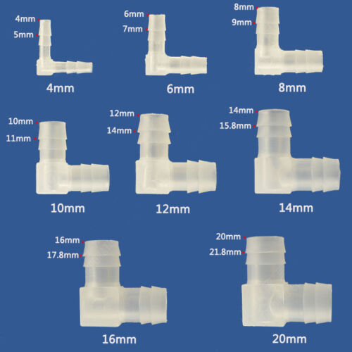 2pcs Plastic Hose Pipe Tube Connector Joiner White Silicone Rubber PVC Air Water