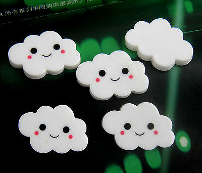 8pcs Lovely White Cloud Resin flatback Scrapbooking For DIY phone /craft